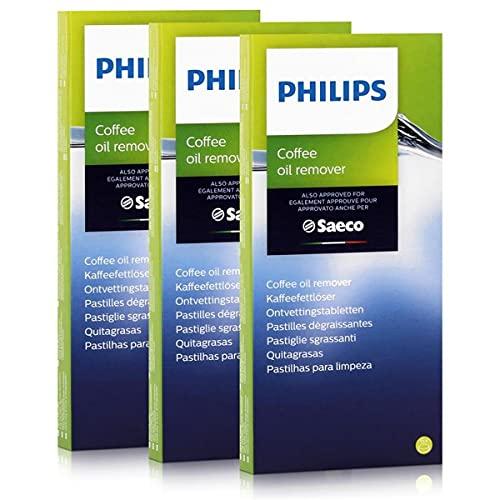 Philips Saeco CA6704/10 rozpuszczacz tłuszczu do kawy, 6 tabletek po 1,6 g (3 sztuki)
