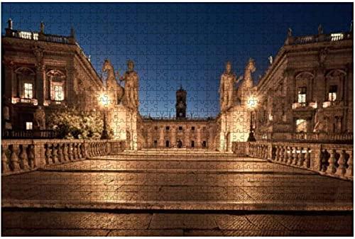 1000 pezzi-Cordonata Scala Capitolina in Campidoglio Roma Italia a Puzzle in legno Puzzle educativi...