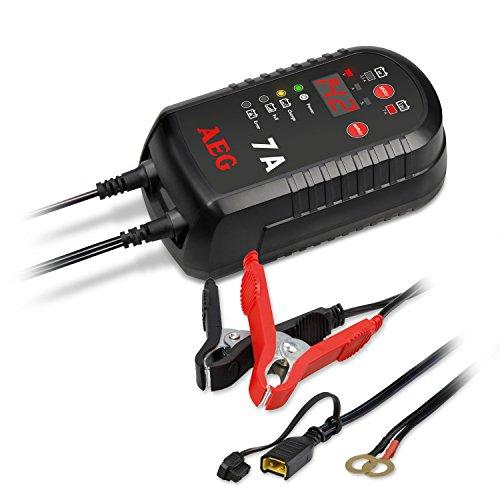 AEG Automotive 97018 Mikroprozessor-Ladegerät LD 7.0 Ampere für 6 und 12 V Batterien, 8-stufig
