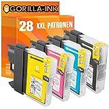 Gorilla de Ink® 28x Cartuchos de Tinta XXL compatible para Brother LC985DCP-J 125DCP-J de 140W DCP J 315W