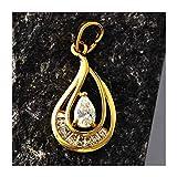 Colgante Oro Amarillo DE 18 KILATES Mujer con Diamantes ENGARZADOS 18K Quilates K Collar Dije Cruz Medalla