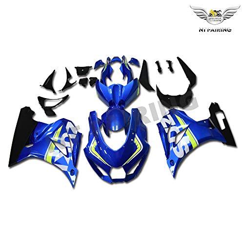 NT FAIRING Blue Black Fairing Fit for SUZUKI 2017 2018 2019 GSXR 1000 New Injection Mold ABS Plastics Bodywork Body Kit Bodyframe Body Work 17 18 19