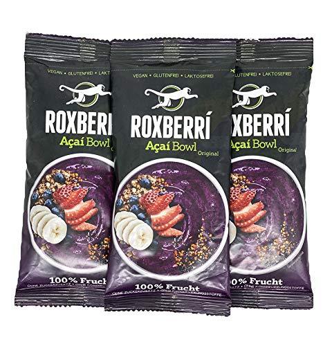 ROXBERRI® Acai Bowl Multipack - 12 x 150g Acai Frucht Püree - 12 Smoothie Bowl Packs mit Acai Beeren - Superfood Brasilien - schnellere Zubereitung als Acai Pulver