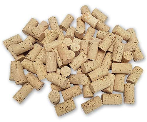 Iberia Weinkorken 100 STK Bastelkorken hell Karton 45x24cm Weinkorken zum Basteln und Deko -Flaschenkorken als Bastelzubehör für Kinder und Hobby Bedarf