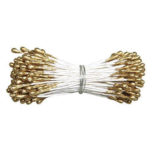 RAYHER HOBBY 5120006 - Decorazione a Forma di Fiore, 144 Pezzi, Colore: Oro
