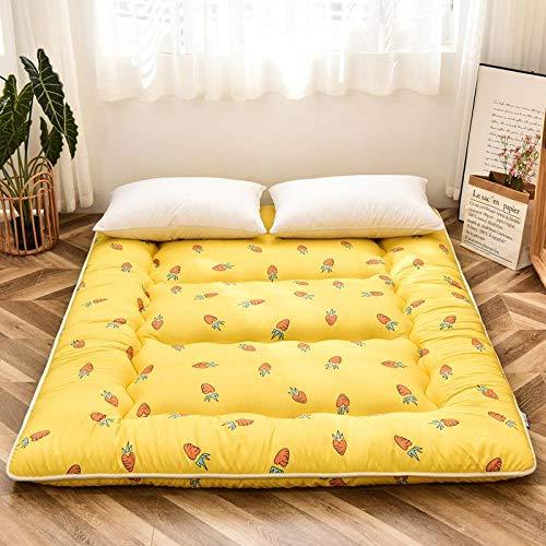 XRDSHY Materasso Futon Doppio Singolo Materasso Tatami Giapponese Spesso E Morbido Materasso Pieghevole per Dormitorio Studentesco Tappetino per Dormire,Yellow-90cmx200cm