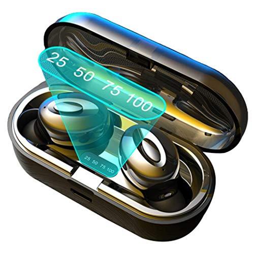 Fandazzie Llamada binaural Digital Bluetooth 5.0 para Auriculares Deportivos con Compartimento de Carga Auriculares