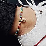 Jovono Bohemia Beach con ciondolo a catena conchiglia a forma di conchiglia e perline colorate bracciali gioielli per donne e ragazze