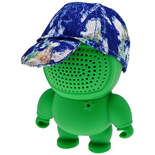 Longbow Mini Bluetooth luidsprekerbox, 3,5 mm AUX-IN, Audio Bot Speaker met Full Cap in Green