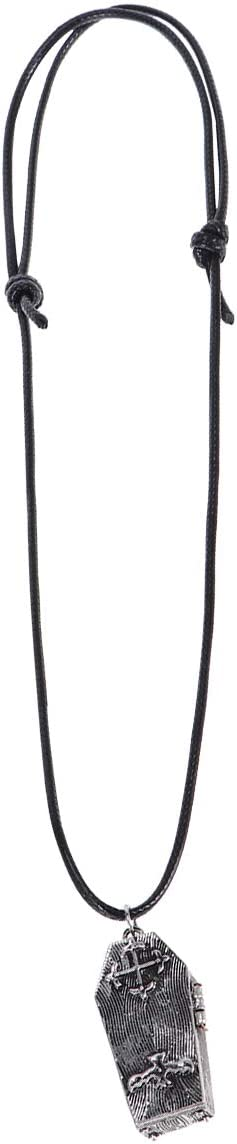 VALICLUD Dark Vintage Coffin Necklace DIY Magnetic Opening Skull Wool Necklace Locket Pendant Jewelry Gift for Men Women