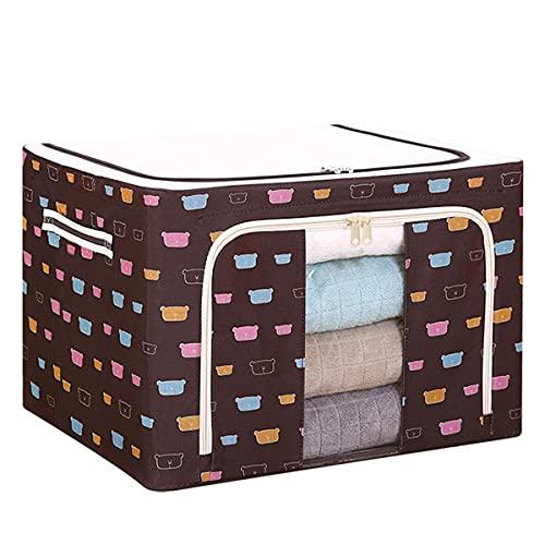 ZYJL Oxford Cloth Steel Frame Storage Box, Foldable Storage Bags Organizers with Steel Frame, Large Capacity Storage Bag Comforters (4#22L)