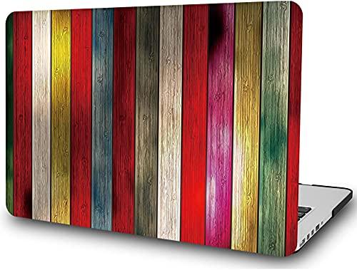 L2W Compatible con Macbook Pro 13 Pulgadas A2338 A2251 A2289 A2159 A1989 A1708 A1706 Versión 2020 2019 2018 2017 2016, Carcasa rígida de plástico Protector de Grano de Madera, Madera Colorida