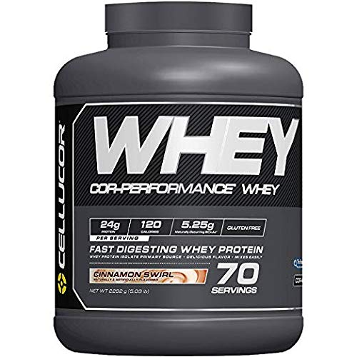Cellucor COR-Performance Protein Isolate Powder Cinnamon Swirl 5lb. | 100% Gluten Free + Low Fat Post Workout Muscle Growth Drink for Men & Women | 70 Servings