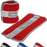 Movit® 2er Set Gewichtsmanschetten Neopren mit Reflektormaterial Laufgewichte für Hand- und...