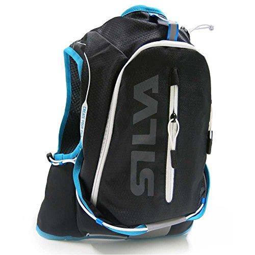 Silva Strive 10 Sac à dos d'hydratation pour course à pied, capacité 10 L, noir/bleu – XS/S