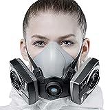 SolidWork Media máscara S/M/L incl. filtro P3 | mascarilla pintura reutilizable...