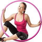 BINIBINI Hula Hoop - Pneumatico da fitness, ultraleggero, senza macchie blu, 10 segmenti, ideale per principianti, dance hoop (rosa)