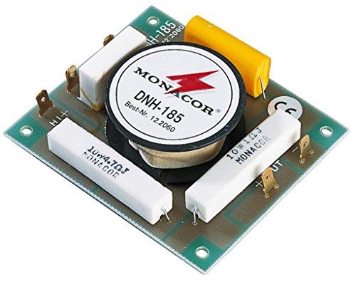 MONACOR DNH-185 Mono-Hochpass 8 ohm, HiFi und PA, Belastbarkeit 250W für den Innenbereich mit hochwertigen Bauteilen