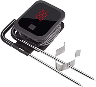 Inkbird IBT-2X Digital BBQ Grill Bluetooth Smoker Thermometer, 150 feet Wireless Cooking Meat Thermometer with Timer and Alarm for Kitchen Oven Barbecue, Dual Probes
