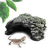 AACXRCR Cueva De Reptiles, Escondite para Reptiles Y Anfibios, Refugio De Cueva De Piedra Confortable, Adorno Realista para Terrario, para Reptiles, Tortugas, Ranas, Zoológicos, Acuarios