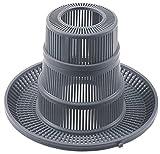 Fagor Filtro redondo para lavavajillas FI-48B, FI-64B, FI-48, FI-48W, FI-64W para desagüe del depósito de 204 mm de diámetro, altura 140 mm, agujero de 50 mm de diámetro
