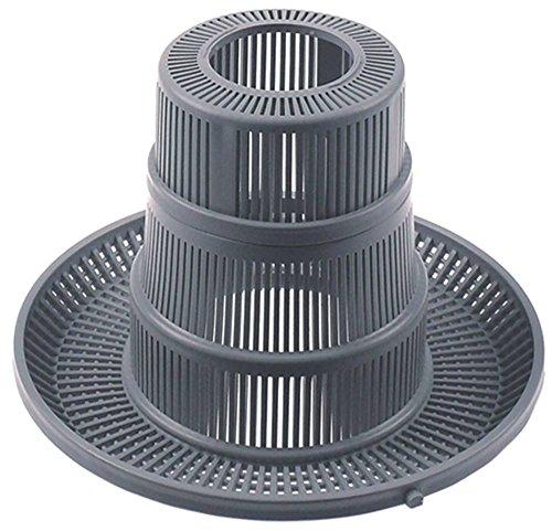 Fagor ronde filter voor vaatwasser FI-48B, FI-64B, FI-48, FI-48W, FI-64W voor afvoer, tank ø 204mm hoogte 140mm gat ø 50mm
