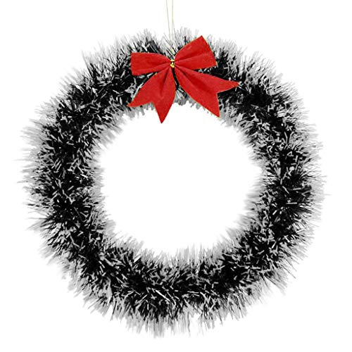Shining Christmas Wreath Ornament Wall Hanging Decorations Pendant Party Festi Home & Garden Home Decor