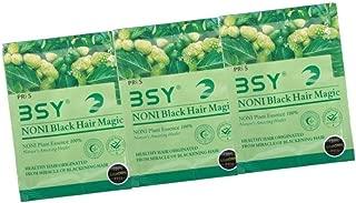 BSY Noni black hair magic shampoo | Noni hair colour | Noni hair dye | Hair dye | Hair dye shampoo | shampoo based hair color | 10 Mins hair color | shampoo| Pack of 3, 20ml