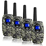 Retevis RT628 Walkie Talkies for Kids,Toys Army Camo Walkie Talkies Rechargeable,Gifts for 6-12 Boys Girls,LCD Long Range,Army Dress Up,Outdoor Adventure Games(4 Pack,Camouflage)