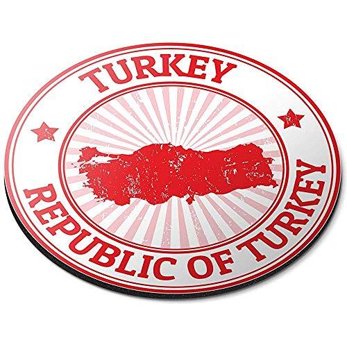 Ronde muismat - Republiek Turkije Turkse kaart reisbureau Gift