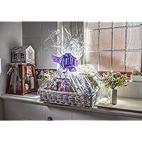 woodluv - Cesta de mimbre ideal para crear tu propio regalo de Navidad, bautizo, boda o regalo de cumpleaños, color gris