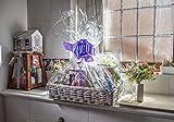 woodluv - Cesta de mimbre ideal para crear tu propio regalo de Navidad, bautizo,...