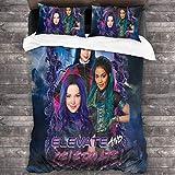 "3 Pieces Descendants Merch All Season Bedding-Set Ultra Soft Microfiber Premium Chic Home Bedding Set (1 Bed Skirt, 2 Pillowcases) 86""X70"