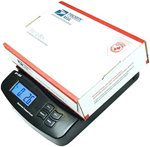 KCHEX 55 Lb X 0 1 Oz Digital Postal Shipping Scale V2 Weight Postage Kitchen Counting Black product image