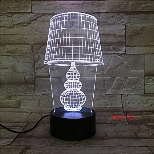 USB LED Nachtlicht Lotus 3D Urlaub Tischlampe Schalter Laterne Touch Dekoration 10 Regler