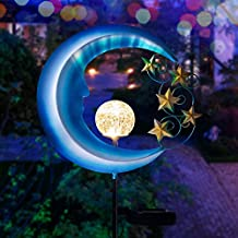 Solar Powered Garden Lights -  Outdoor Decorative Moon Light - Metal Waterproof Solar Garden Light for Pathway, Lawn, Pati...