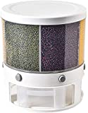 ZZ ZONEX Rice Storage Container,10KG Automatic Rice Dispenser Grain Storage Bin,Cereal Dry Food Storage Box,360 Degree Rotation Rice Bucket with Measuring Cup