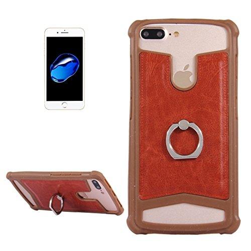 Accesorios para teléfonos móviles 5.2-5.5 pulgadas Universal Crazy Horse Texture PU Cuero + Funda de silicona con soporte para Sony, Huawei, Meizu, Lenovo, Asus, OnePlus, Dreami, Oukitel,, Ulefone, Le