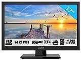 HKC 17H2 LED TV (17 pollici HD TV) Triple Tuner, CI+, Media Player, HDMI+USB, Caricabatteria da auto 12V [Classe energetica A +]