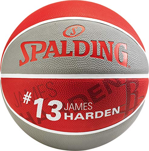 Spalding NBA Player James Harden SZ.7 (83-845Z) Basketballs, Juventud Unisex, Grey/Red, 7
