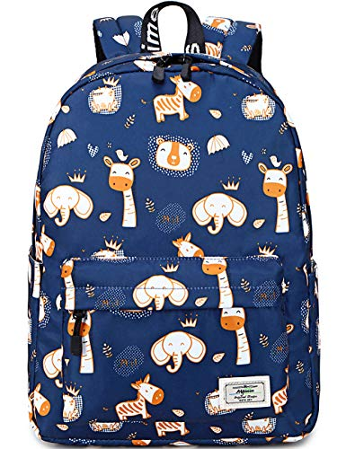 School Backpack for Girls, Mygreen Water Resistant Durable Casual Schoolbag Bookbag for Middle School Students Dark Blue