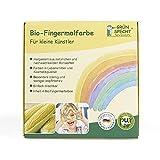 GRÜNSPECHT Naturprodukte 691-00 Bio-Fingermalfarbe gelb, rot, blau, grün, mehrfarbig, 500 g