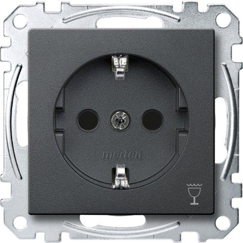 Merten MEG2353-0414 Schuko-stopcontact met aanduiding Vaatwasser, BRS, stekker, antraciet, systeem M