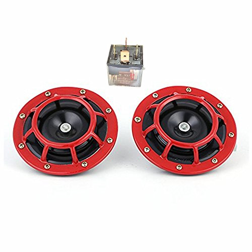 Claxon eléctrico para coche de 12 V y135 dB, tono alto y con kit de claxon doble con soporte para automóviles, camiones, todoterrenos, caravanas, furgonetas y motos