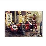 XuFan Ferraries Classic Vintage Racing Car Wall Art Canvas Poster Canvas Painting Cuadro Decorativo Sala de Estar Decoración para el hogar-20X34 Pulgadas Sin Marco