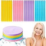 108 Piezas Esponjas Faciales Comprimidas Esponja Desmaquilladora Colorida Almohadilla de Esponja Limpiadora Facial Esponja Facial Redonda Exfoliante de Lavado para Niña Mujer (Amarillo)