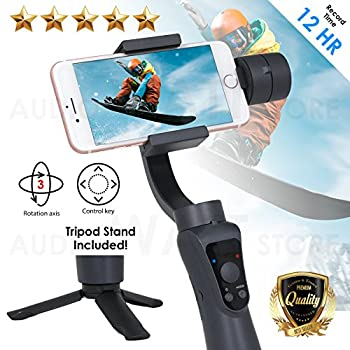 EMB Professional 3-Axis Handheld Gimball Stabilizer for Smartphone  with tripod  + 12 Hours Run Time with Face Tracking  EPL-5B