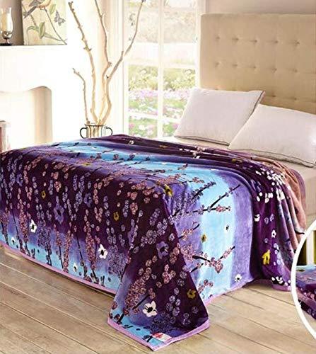 FEJK Decke Coral Purple Trees Decke Throws On Sofa/Bett/Flugzeug Reisen Big Size Heimtextilien 200 * 230Cm