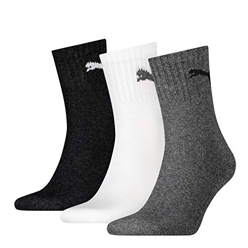 PUMA Herren Socken SHORT CREW 3P UNISEX, grey/white/black, 47-49, 231011001