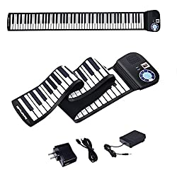 professional 88-key BABYJOY roller door, latest electronic piano keyboard, portable piano with Bluetooth, …